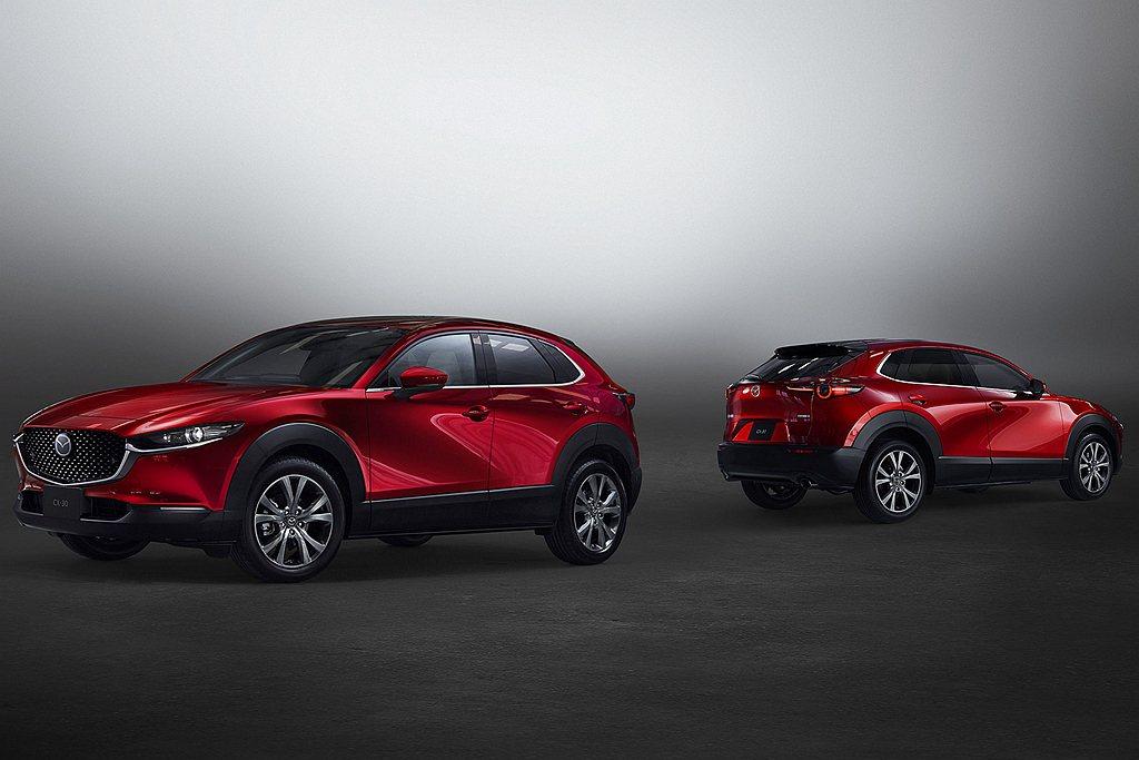 日本市場率先推出Skyactiv-X動力的Mazda CX-30跨界休旅。 圖/...