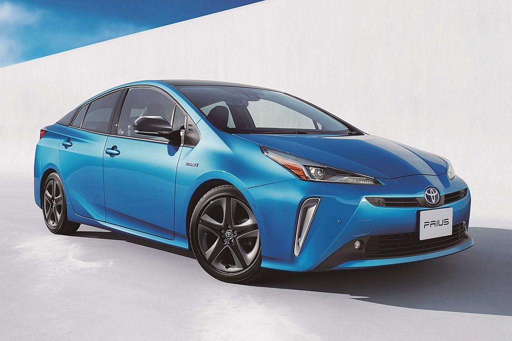 Toyota Prius以年銷售12.5萬輛再度重返日本乘用車銷售冠軍。 圖/T...