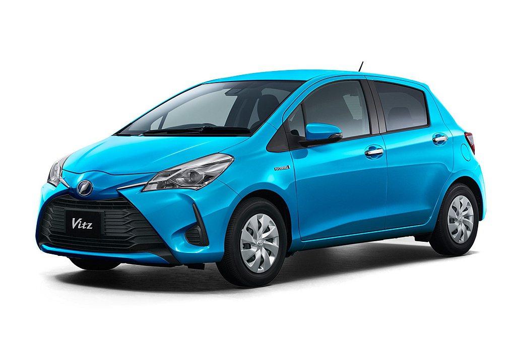 第十名為Toyota Vitz,於2019年共銷售8.1萬輛。 圖/Toyota...