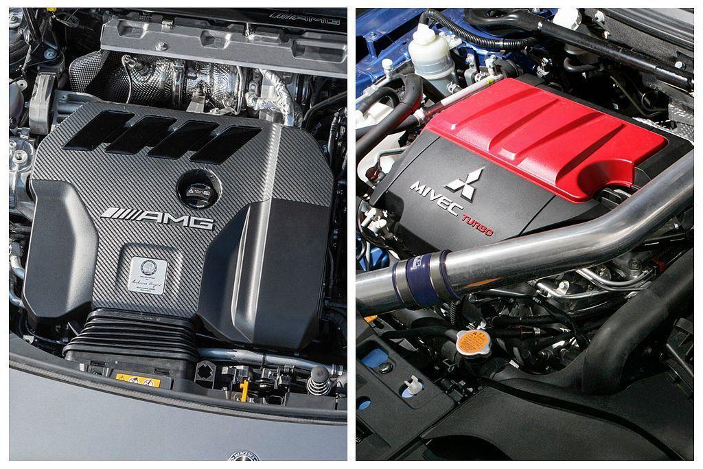 最強2.0L直列四缸渦輪引擎,到底是三菱還是賓士說了算? 圖/Mercedes-...