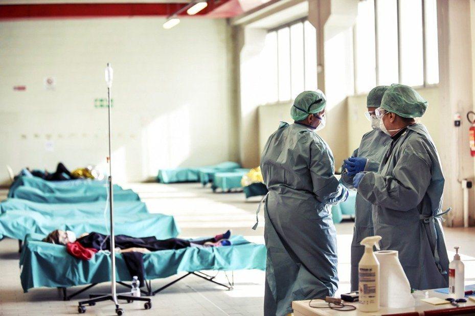 圖為義大利一間醫院。 圖/美聯社