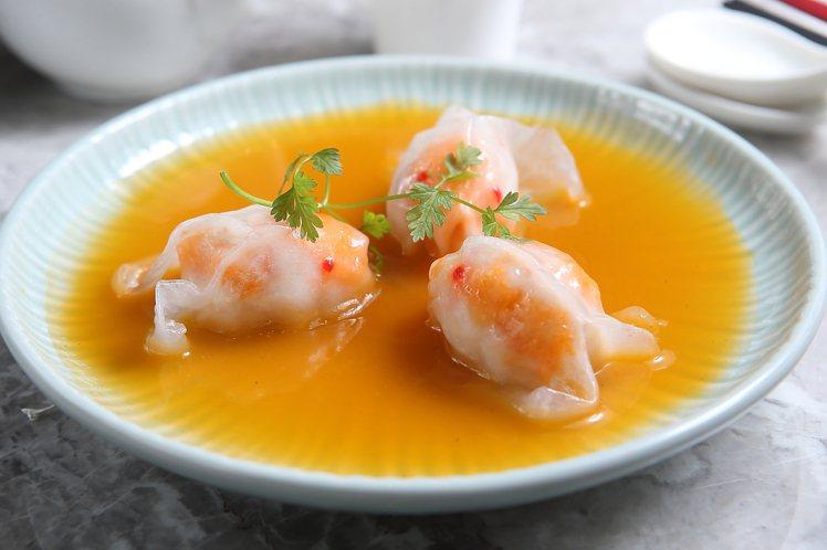 黃燜湯金魚餃,每份268元。記者陳睿中/攝影