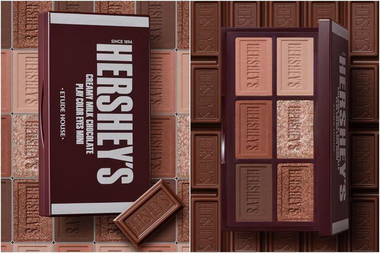 ETUDE HOUSE與HERSHEYS聯名彩妝,玩轉色彩迷你眼彩盤#牛奶巧克力...