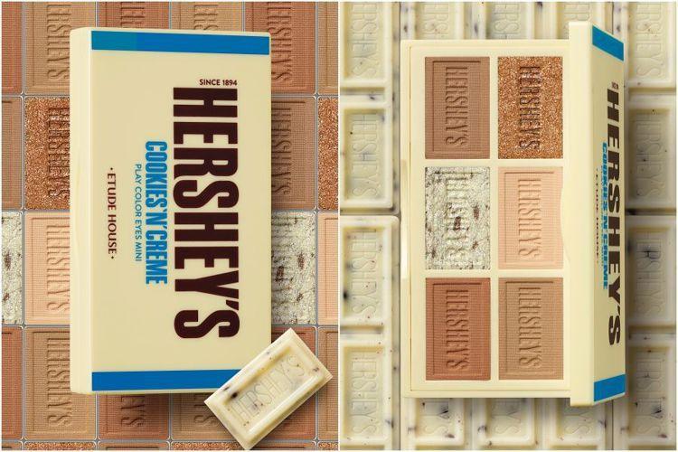 ETUDE HOUSE與HERSHEYS聯名彩妝,玩轉色彩迷你眼彩盤#白巧克力餅...