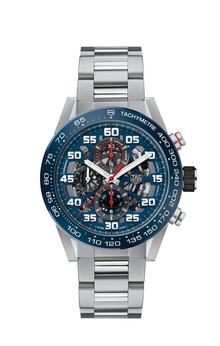 泰格豪雅Carrera Heuer 01自動計時碼表,不鏽鋼表殼、表鍊,約19萬...