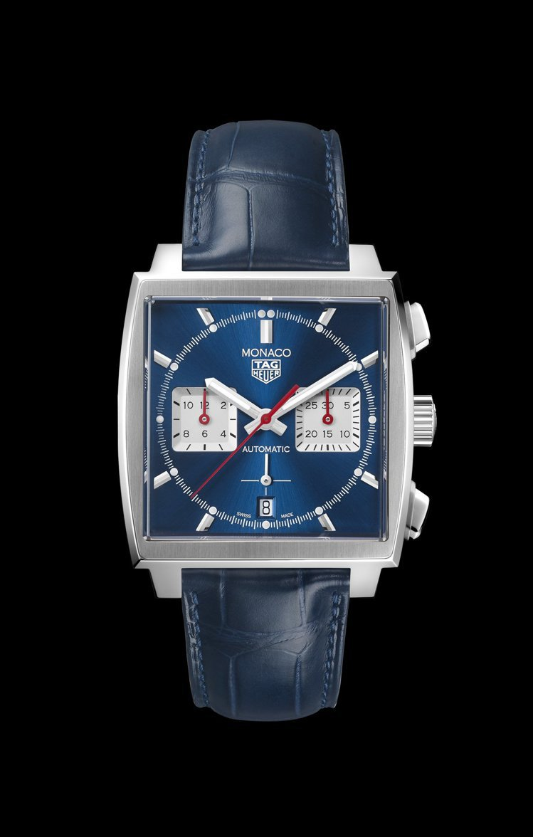 泰格豪雅Monaco Calibre Heuer 02自動計時碼表,不鏽鋼表殼,...