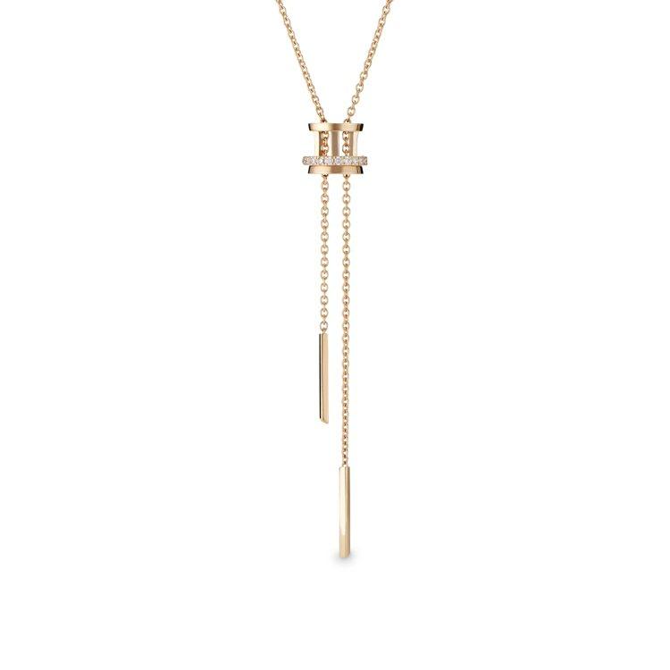 De Beers Horizon 18K玫瑰金鑽石項鍊,約11萬2,000元。圖...