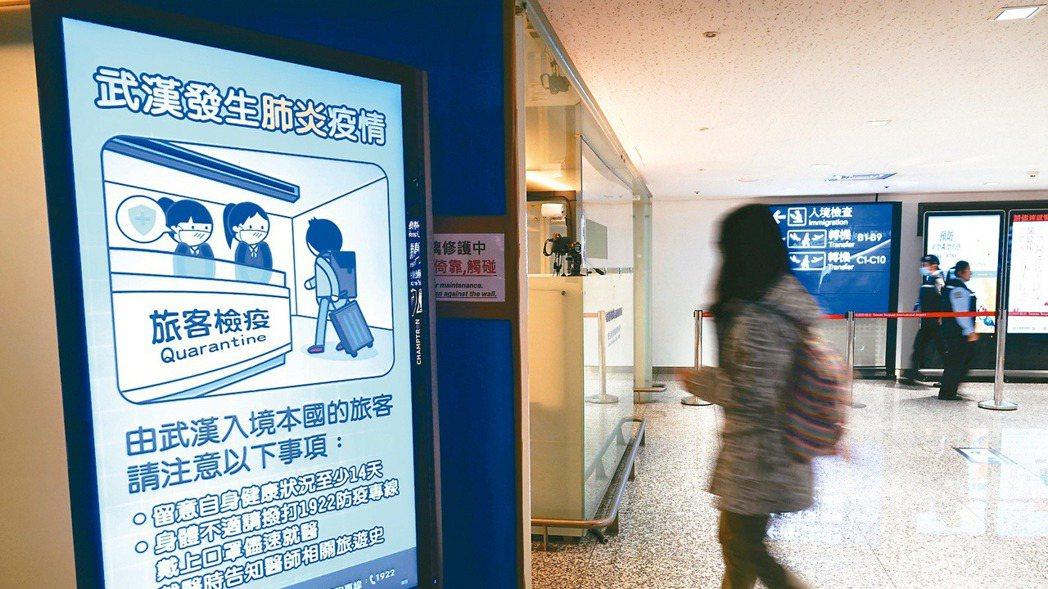 武漢肺炎病例持續增加,台灣出現首例病例。 本報資料照片