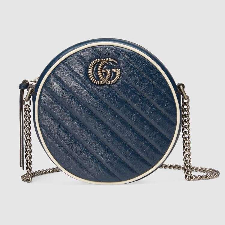 GG Marmont海軍藍圓形包