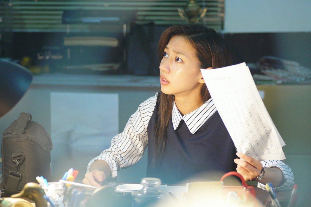陳妤在「國際橋牌社」戲中再度飾演記者。圖/friDay影音提供
