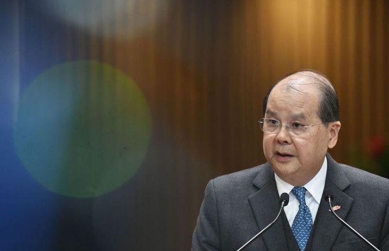港府政務司長張建宗指出,穆迪下調香港主權評級的決定,是不公平做法。 (中通社)