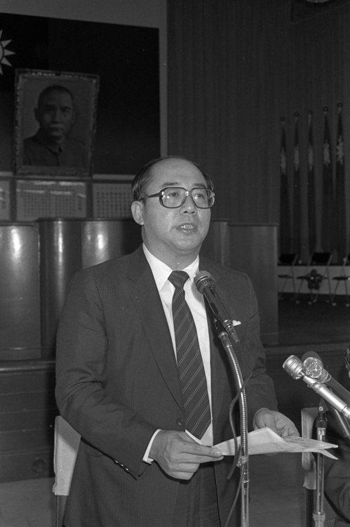 1984年,警察之友會第二屆會員代表大會,時任內政部長吳伯雄應邀與會。 圖/聯合...