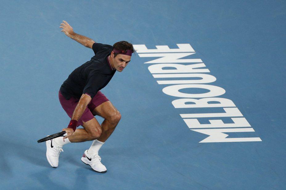 費德勒(Roger Federer)拿下澳網第99勝。 路透