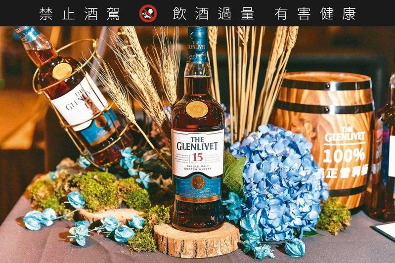 格蘭利威15年純正雪莉桶獨獻台灣。 ※ 提醒您:禁止酒駕,飲酒過量有礙健康,飲酒過量,害人害己。 圖/台灣保樂力加提供