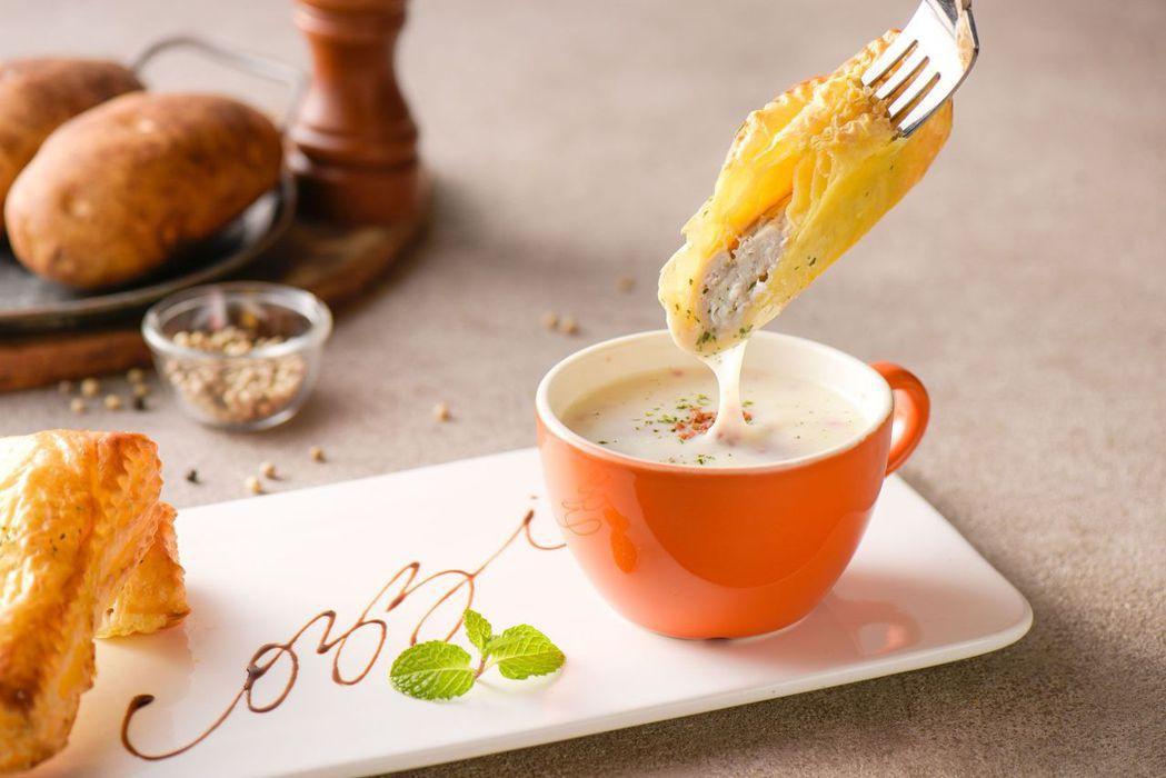 起酥虱目魚佐培根濃湯。  和逸飯店台南西門館 提供