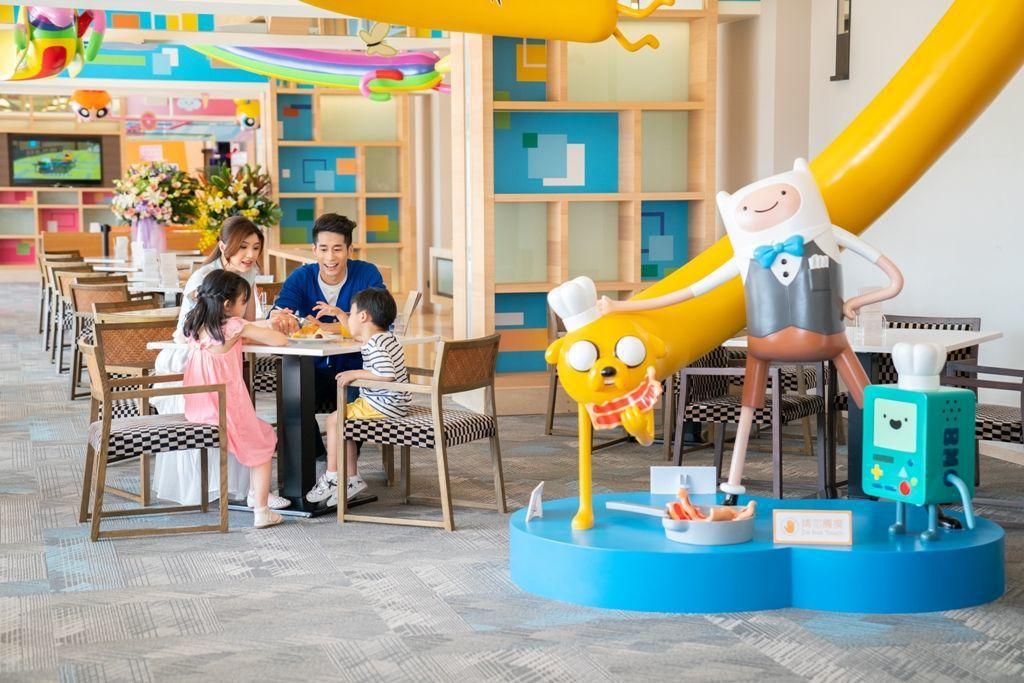 和逸飯店台南西門館 Cozzi KITCHEN在卡通明星「飛天小女警」、「熊熊遇...