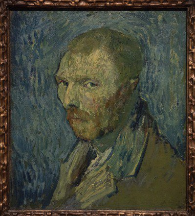 梵谷1889年自畫像確認為真跡。 美聯社