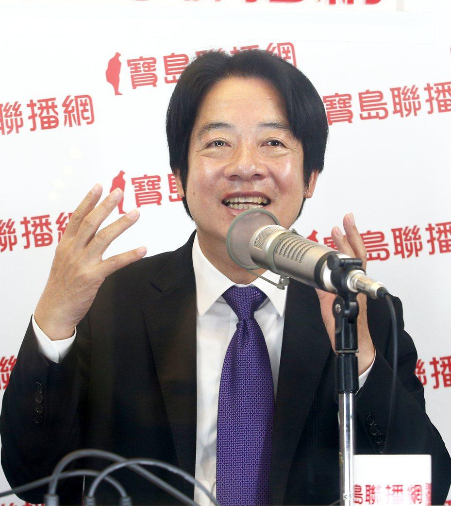 準副總統賴清德上午接受電台訪問時表示,守護台灣就等於守護中華民國。 蘇健忠記者蘇健忠/攝影