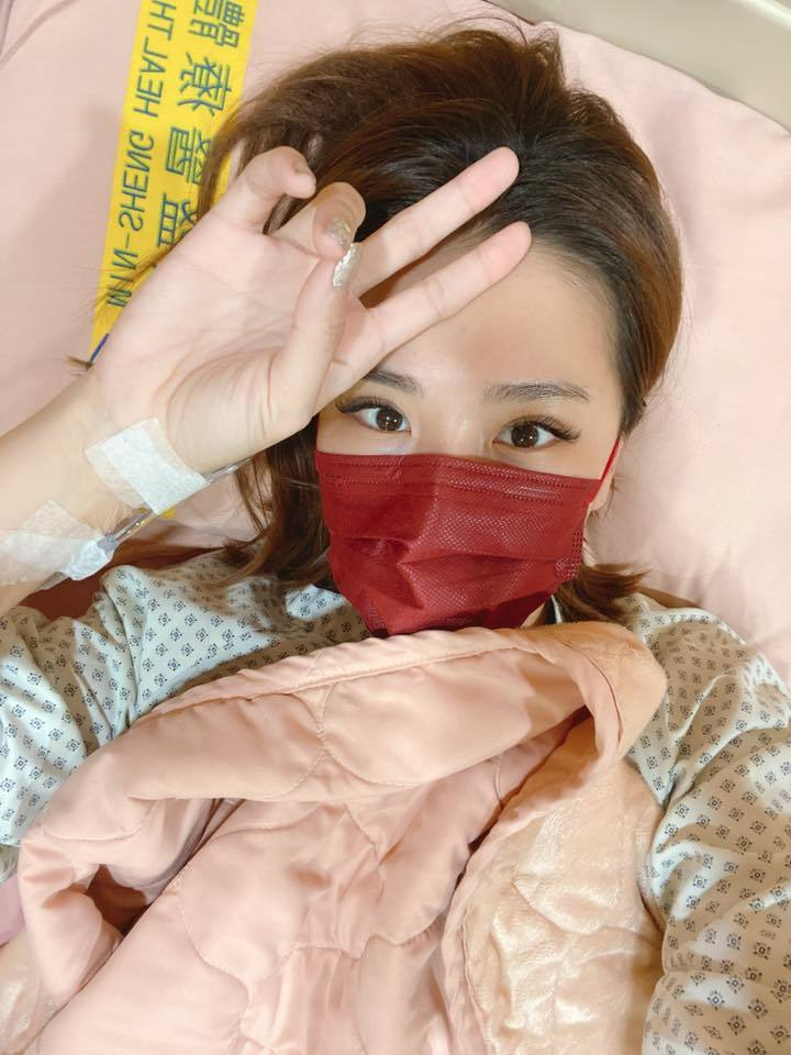 小禎過年前緊急住院開刀。 圖/擷自小禎臉書