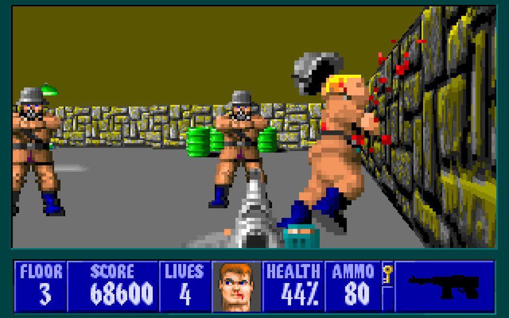 《德軍總部3D》遊戲畫面。(圖片來源:GOG)