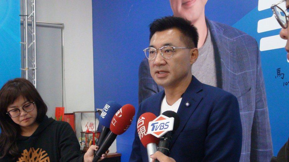 江啟臣今天表示,在國民黨改造過程絕不會缺席,但必須思考放在哪一個位置最能發揮功能,1月31日前領表日到期會有答案。聯合報記者余采瀅/攝影