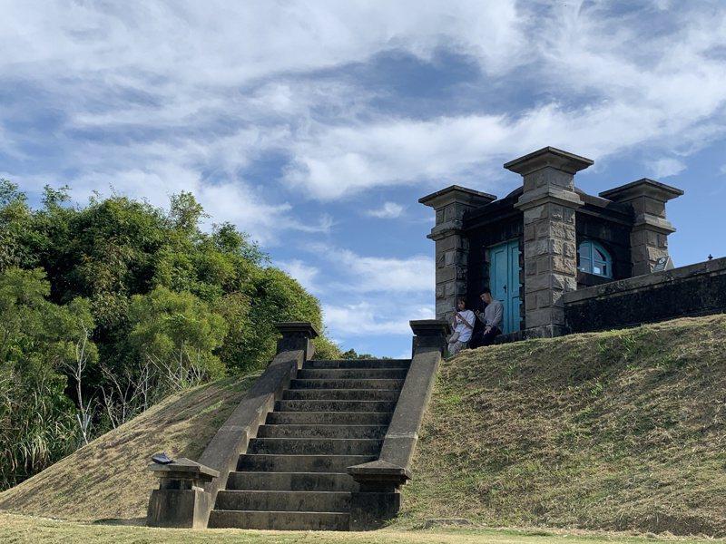 台南山上水道博物館淨水池區城堡式建築。記者吳淑玲/攝影