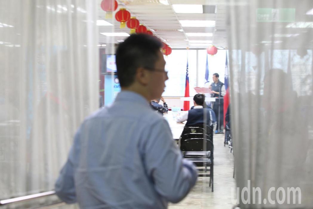 國民黨中午舉行年終餐敘感謝便當餐會,閉門不開放採訪。記者蘇健忠/攝影