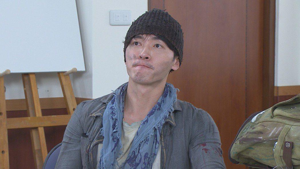 馬俊麟在「多情城市」中飾演流浪藝術家,角色十分逗趣。圖/民視提供