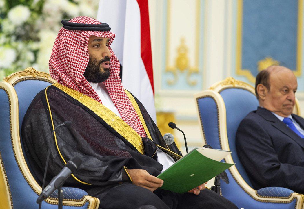 沙烏地阿拉伯王儲穆罕默德(左)。美聯社
