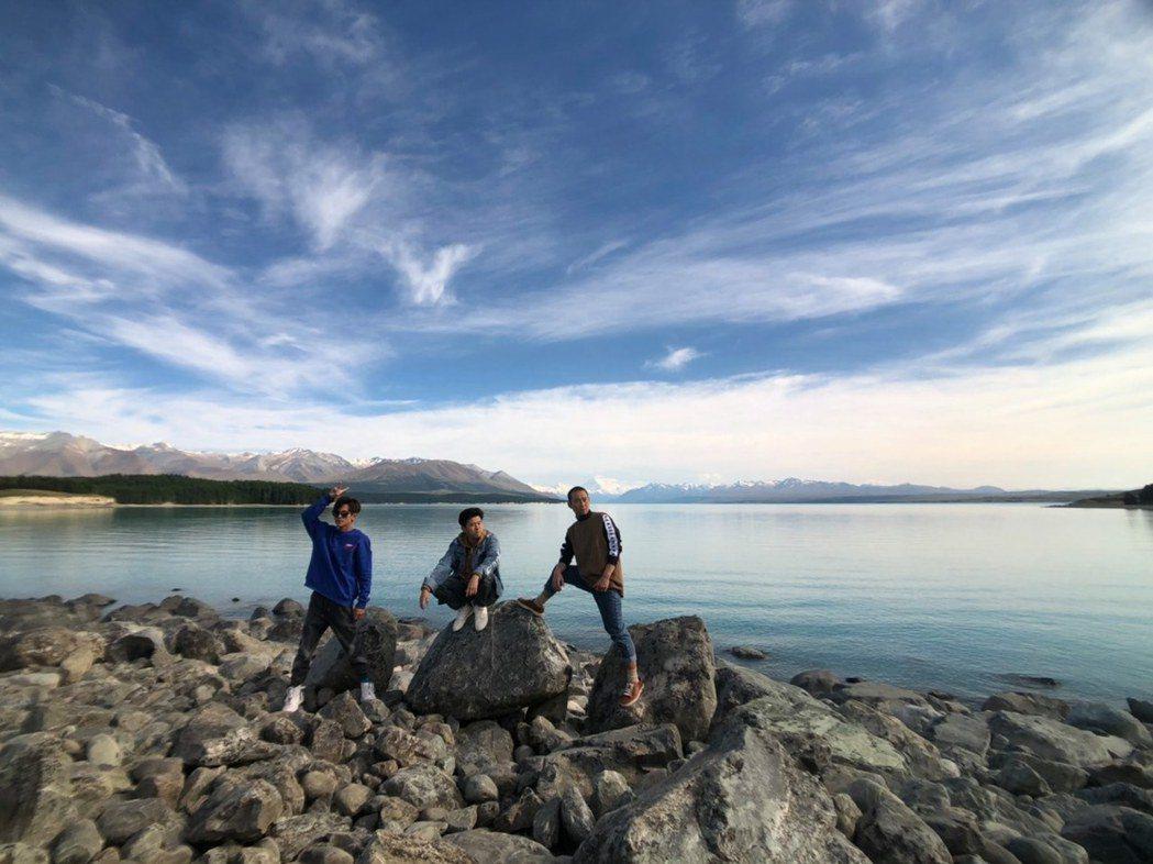 阿翔(左起)、顏永烈和浩子紐西蘭外景回來,就弄出開團計畫。圖/鬧著玩視界旅遊提供