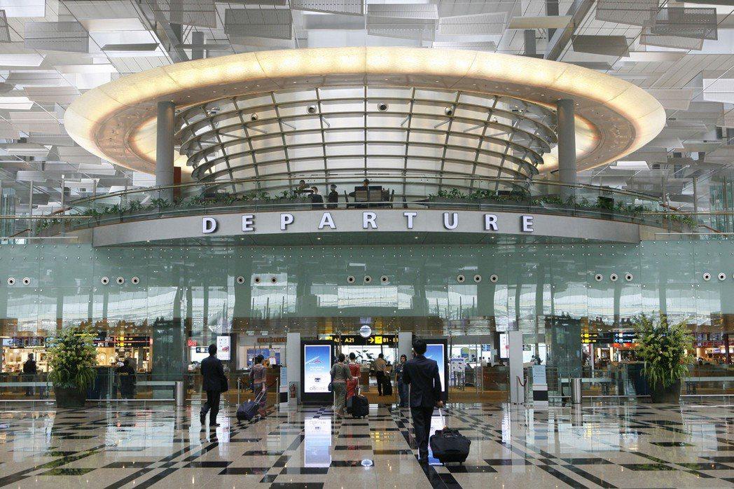 新加坡樟宜機場出境大廳。美聯社資料照片
