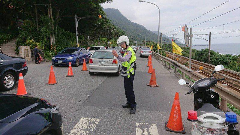 針對蘇花改易塞路段,宜蘭警方將在春節期間投入近6千人次警民力疏導,避免交通打結。圖/警方提供