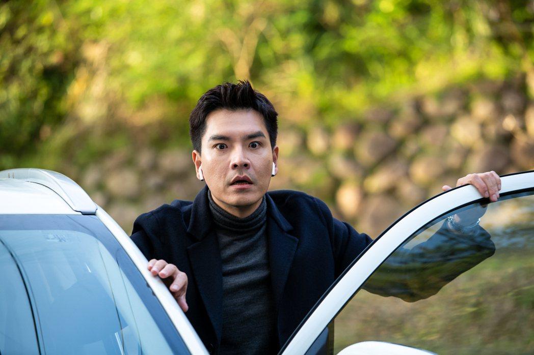 王傳一在「美味滿閣」戲中,一場山路拍攝車戲遇險。