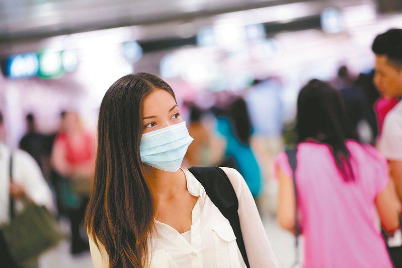 我國確診首例武漢肺炎後,戴一般口罩就能防禦飛沫傳染,無需購買到N95。 圖/123RF