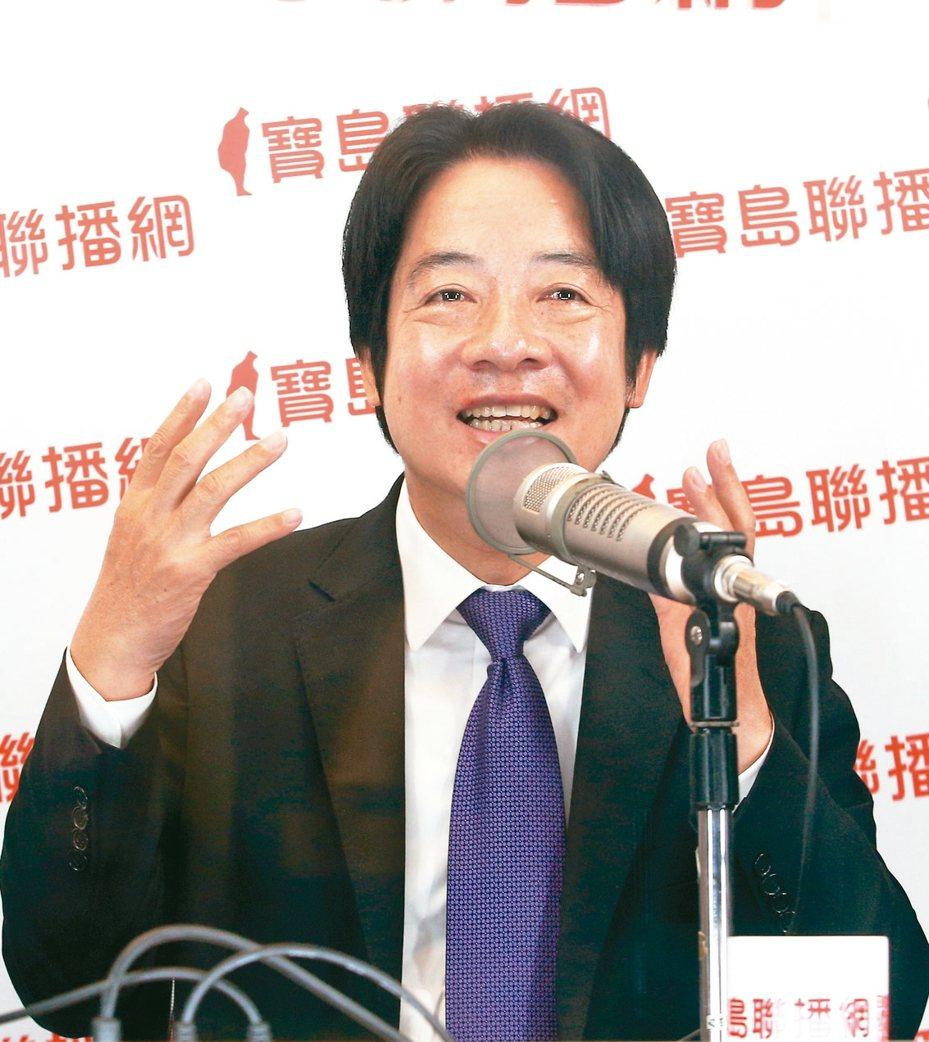 準副總統賴清德昨天說,1911年創立的那個中華民國已不存在,經過一百餘年歷史,中華民國已在台灣新生。  記者蘇健忠/攝影