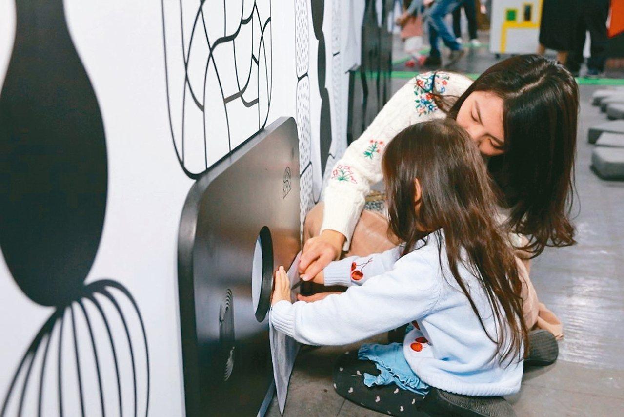 台北華山「龐畢度兒童藝術工作坊」帶動新的親子活動趨勢。 圖/聯合數位文創提供
