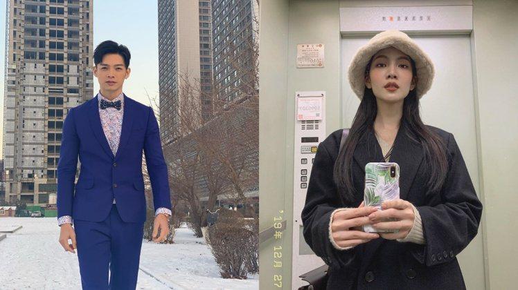 曾之喬(右)與辰亦儒宣布婚訊。 圖/摘自IG