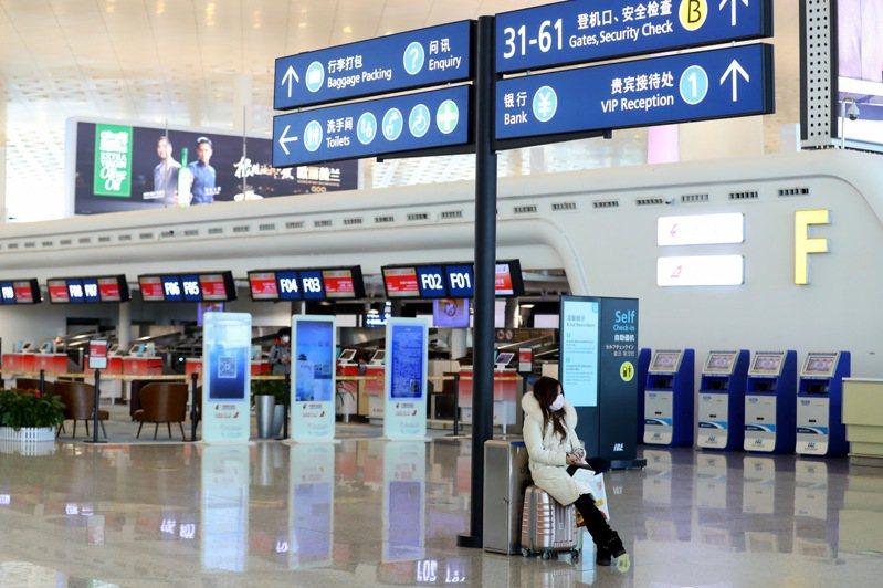 武漢肺炎疫情不斷擴散,陸官方暫時關閉武漢天河機場。 中新社