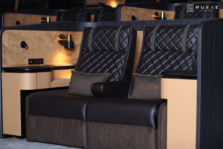 Mucrown影城內的頂級座椅。圖/摘自威秀影城粉絲團