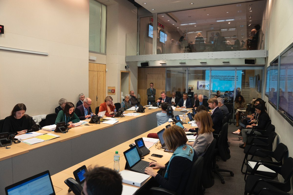 世界衛生組織(WHO)22日就武漢肺炎召開緊急會議。圖/取自WHO推特帳號