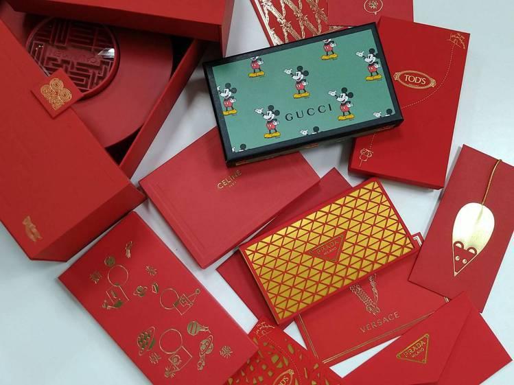 每一年精品品牌都會絞盡腦汁,特別為華人市場的需求推出特製的紅包袋。記者黃仕揚/攝...