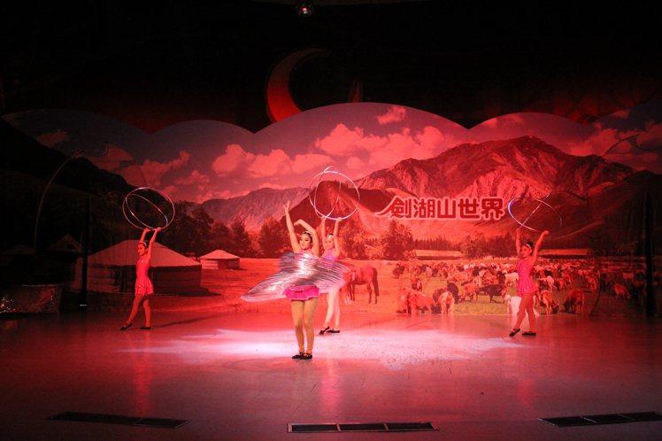 春節期間有多項活動提供遊客欣賞。圖/劍湖山世界提供