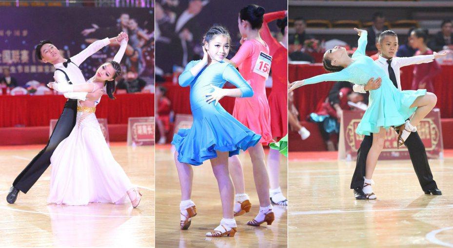 金門囝仔揚名兩岸,赴廈門參加兩岸國標舞賽, 在各項舞蹈賽中,勇奪冠軍。圖/金門體育會提供