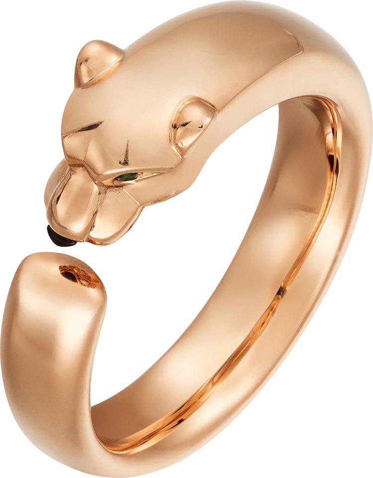 Cartier,La Panthère 美洲豹戒指,玫瑰金,95,500元。圖...