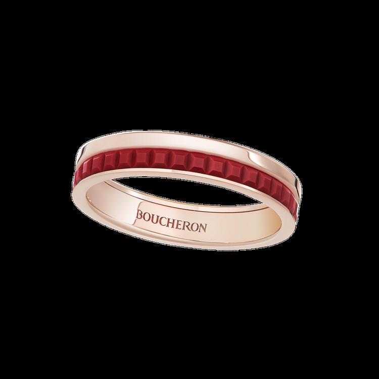 Boucheron,Quatre Red系列戒指,57,500元。圖╱Bouch...
