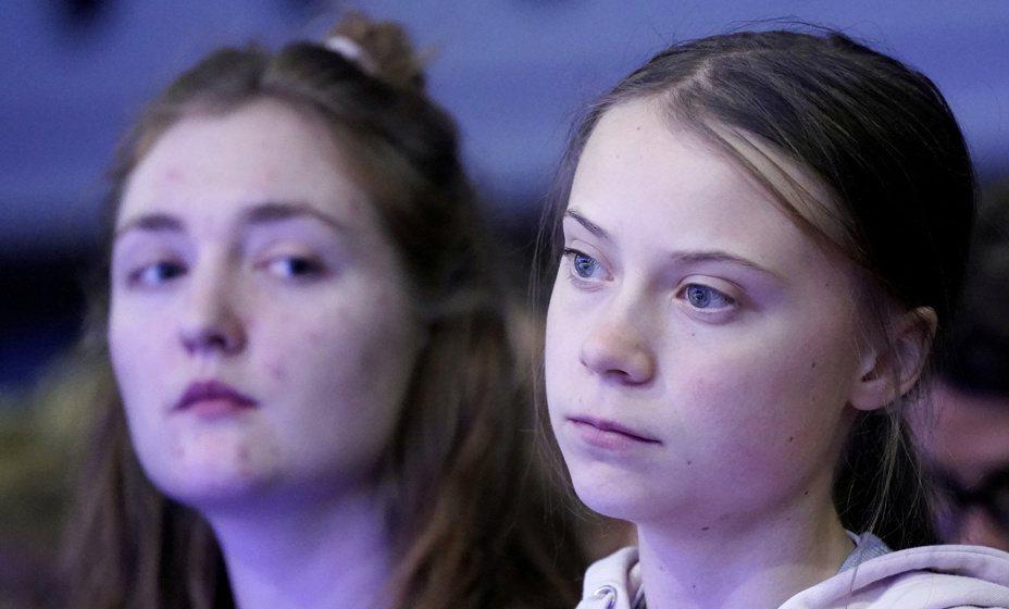 童貝里(Greta Thunberg)出席第50屆世界經濟論壇(WEF)。路透