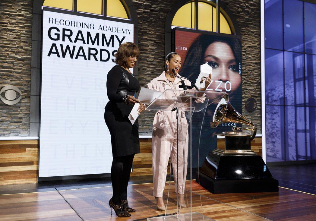 象徵美國音樂殿堂最高榮譽的葛萊美獎(Grammy Awards)。 歐新社