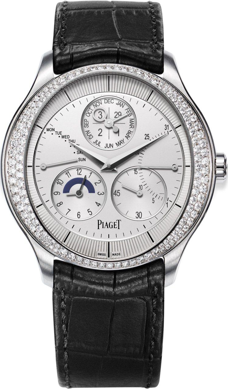 Piaget,Gouverneur 萬年曆腕表,白金,43毫米,855P超薄自動...