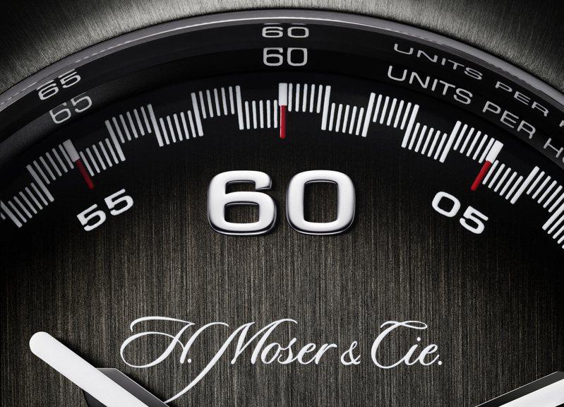 亨利慕時為表迷帶來一只全新的創作,採用嶄新表殼、一體成型鍊帶、新機芯、新表盤與全新指針的Streamliner疾速者飛返計時碼表。圖/H. Moser & Cie.提供