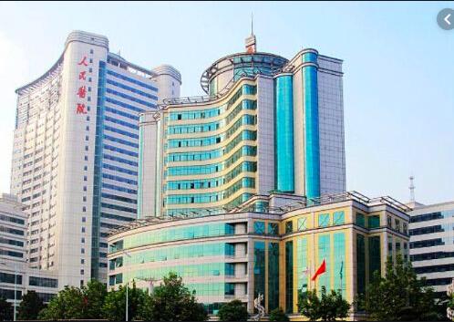 武漢大學人民醫院。(新浪微博照片)